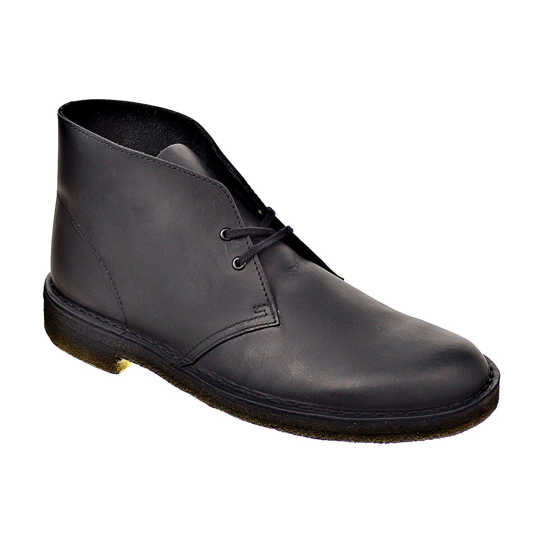 Clarks Mens' Desert Boot Black Smooth Leather 26103683