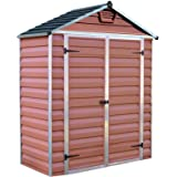 Palram SkyLight Shed 6x3ft Durable Storage – Amber