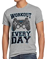 style3 Gamer Workout Herren T-Shirt play sport station controller ps game