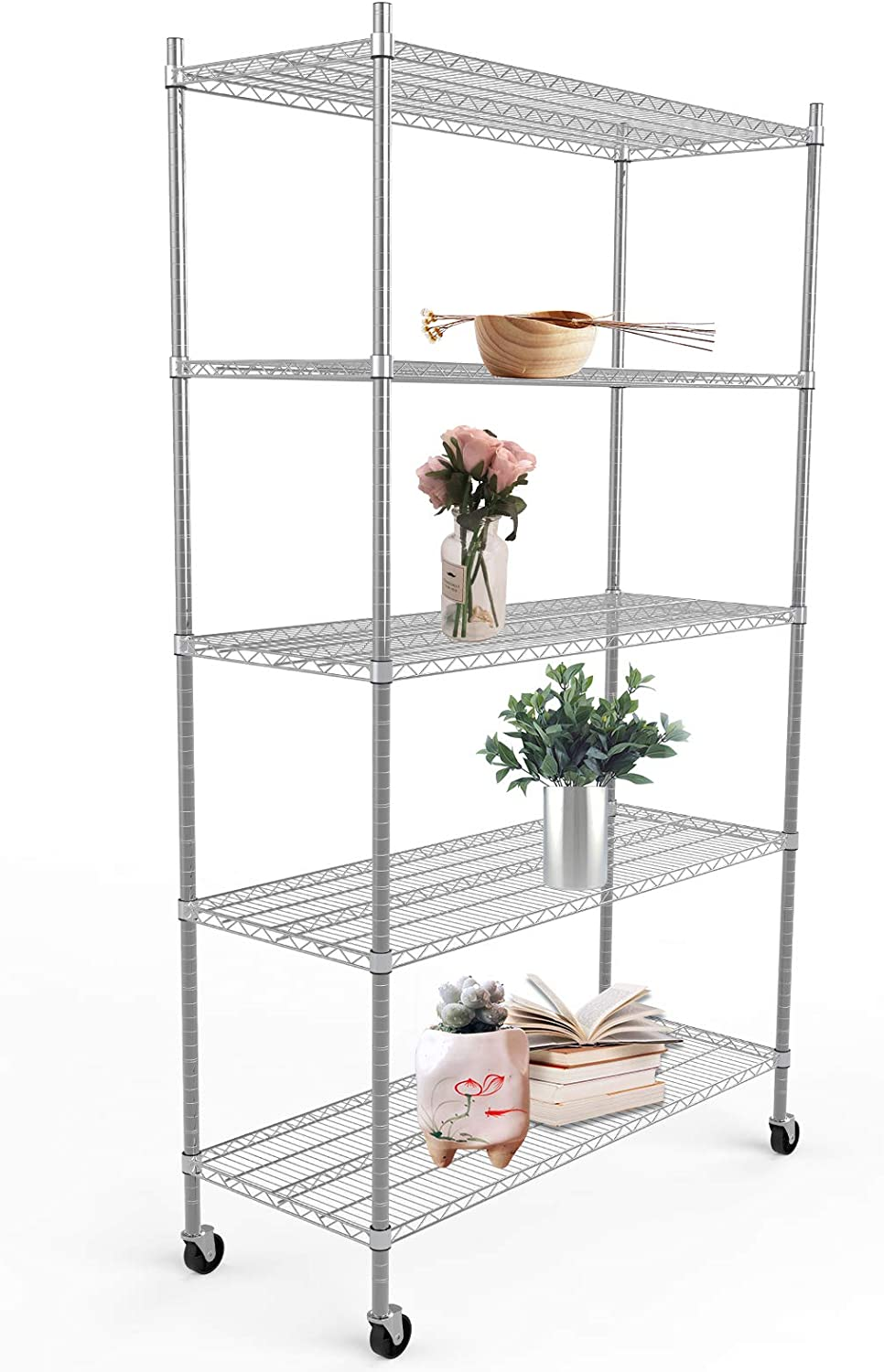 2 Shelf Unit Commercial Chrome Wire Shelving 18 x 72 18 Height