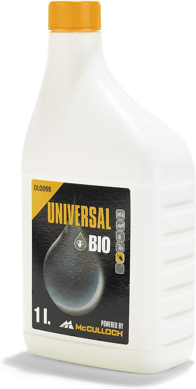 Universal GM577616408 Aceite de cadena biológico, protección contra el desgaste, alto efecto lubricante, uso durante todo el año, biodegradable, Standard, 1,0 L