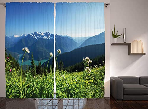 Ambesonne Nature Curtains