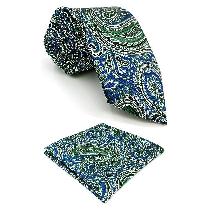 Shlax&Wing único Cachemir Corbatas Para Hombre Azul Verde Nuevo ...