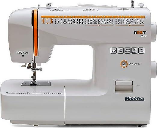 Máquina de coser Best Domestic Portable Euro Pro - Máquina de coser electromecánica blanca barata | Minerva Next ...