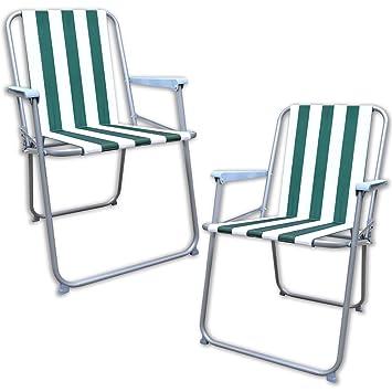 Generic 2 x GARDEN plegable para acampada PICNIC diseño a rayas diseño cilíndrico tabla de playa