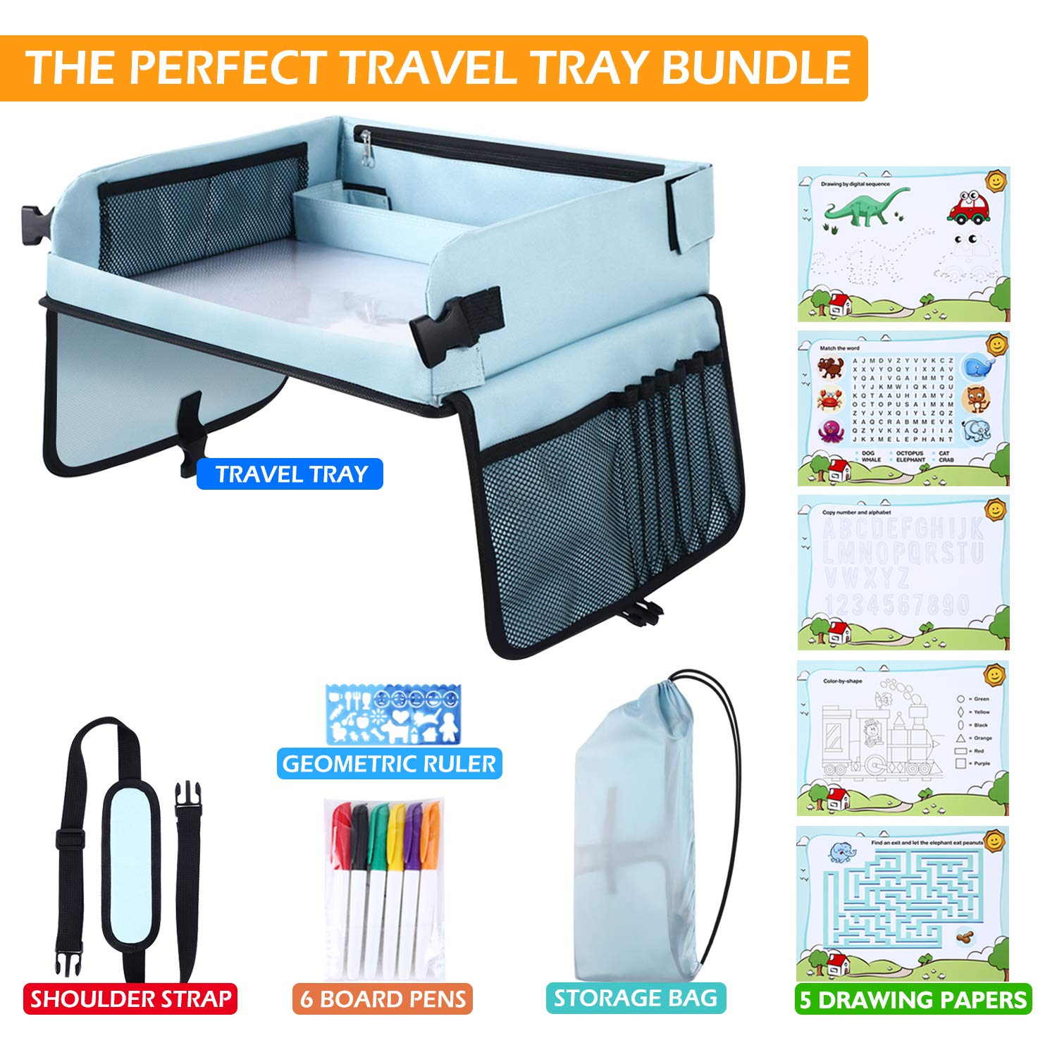 Kids Toys Car Play Travel Tray/Table For Children Toddler, With Drawing Boards Toys For A Gift Present