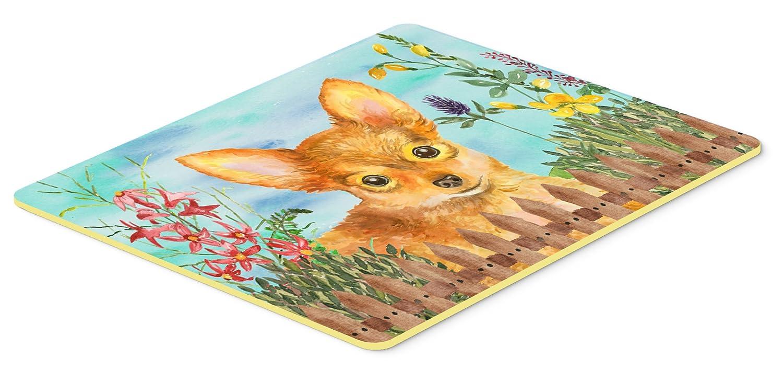 Caroline's Treasures CK1284JCMT Toy Terrier Spring Kitchen Mat 24 x 36' Multicolor