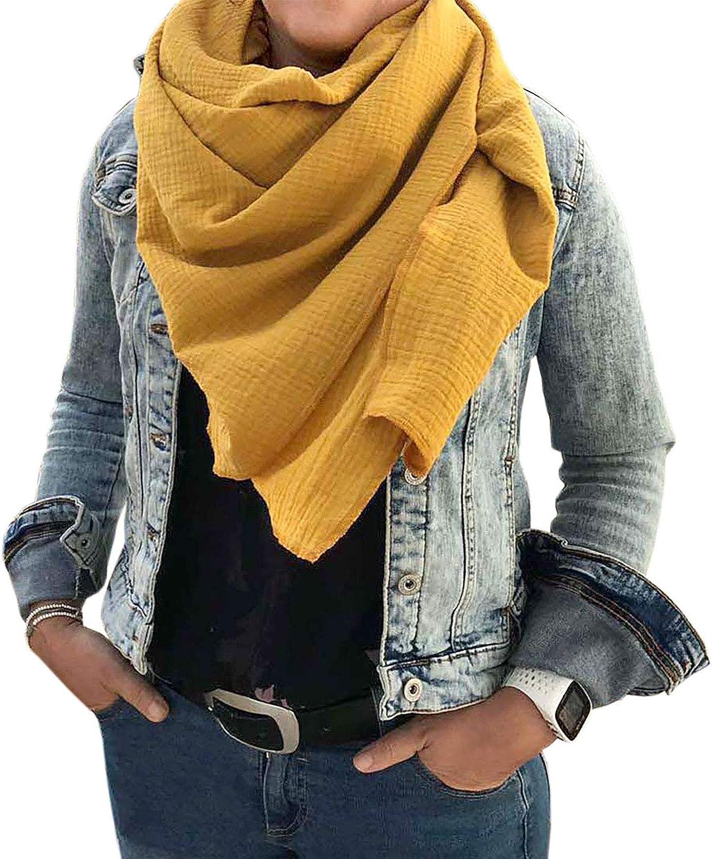 Turnanzug-GymStern XXL Musselin Schal Damenhalstuch aus 100/% feiner Baumwolle Tuch Farbwahl