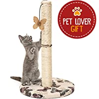 Cat Scratching Post with Hanging Butterfly Toy (Scratching Post)
