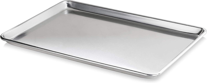 New Star Foodservice 36893 Commercial-Grade 18-Gauge Aluminum Sheet Pan/Bun Pan, 15