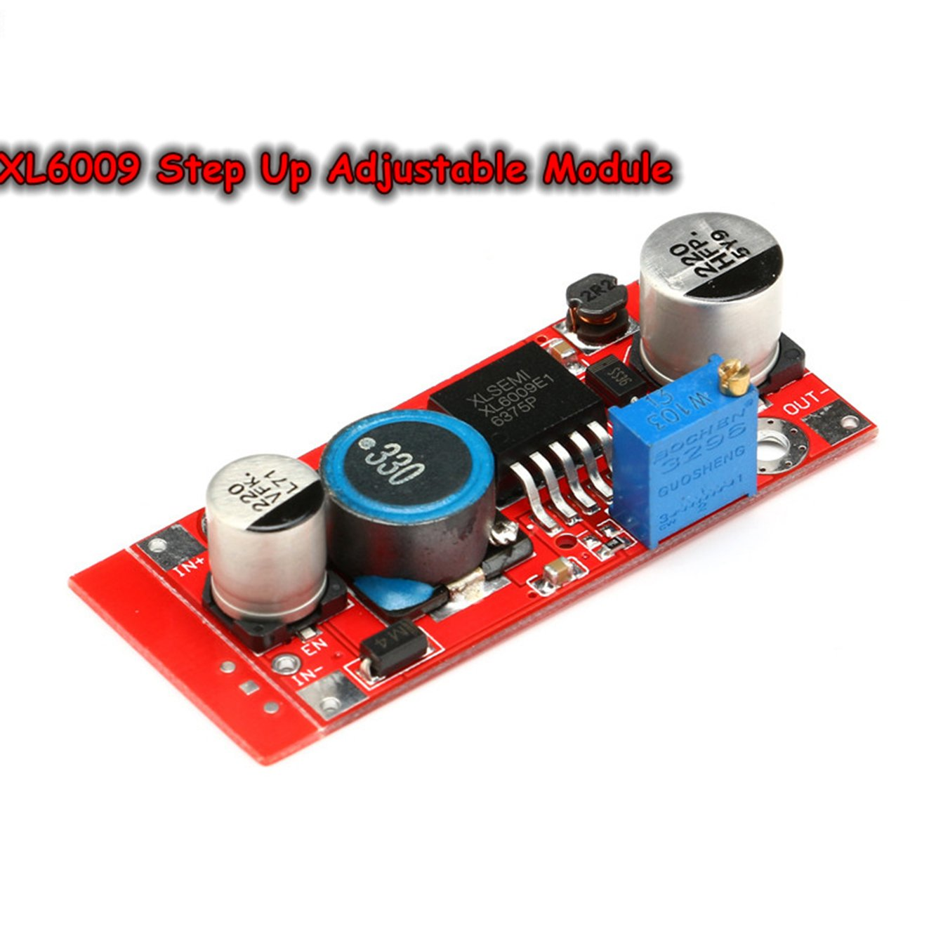 Xl6009 Boost Converter Step Up Adjustable 15w 5 32v To 50v Dc 4a Power Supply Module High Performance Low Ripple Electronics