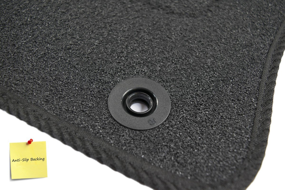 Set of 4 5005205 Fully Tailored Car Mats Deluxe Black by Connected Essentials