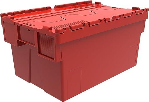 1 x caja de plástico de colores adjunta litros - 56 color rojo, el ...