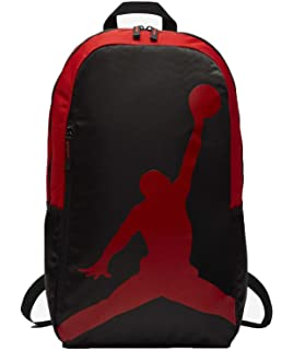 2f9ceb2081cb Nike Air Jordan Jumpman 23 Black red graphite School Bookbag Laptop ...