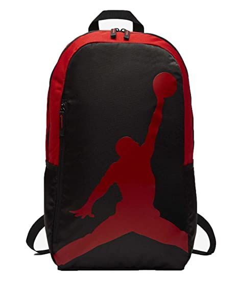 e2c61b534677 Nike AIR Jordan Backpack ISO Pack (Black Gym Red)  Amazon.co.uk ...
