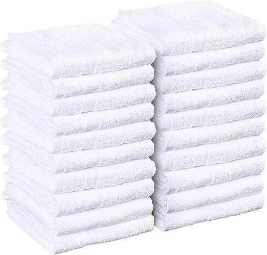 48 new white 16x27 premium hand towels spa salon hotel resort plush absorbent