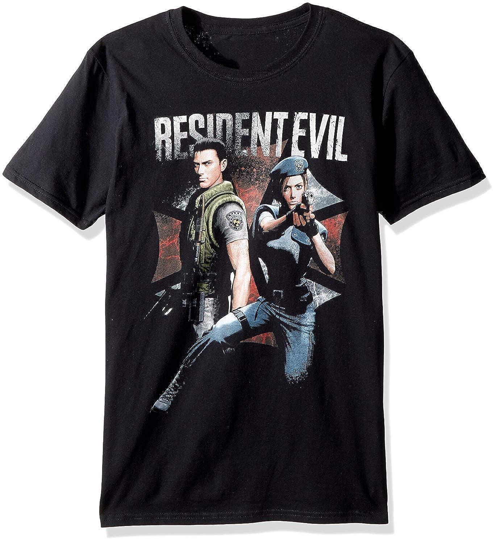 popularshop American Classics Resident Evil Chris and Jill Adult Short Sleeve T-Shirt