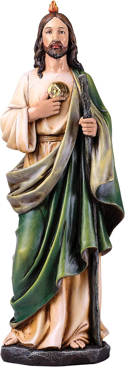 """Joseph's Studio by Roman - St. Jude Figure on Base, 14"""" Scale Renaissance Collection, 14"""" H, Resin and Stone, Religious Gift, Decoration, Collection, Durable, Long Lasting"""