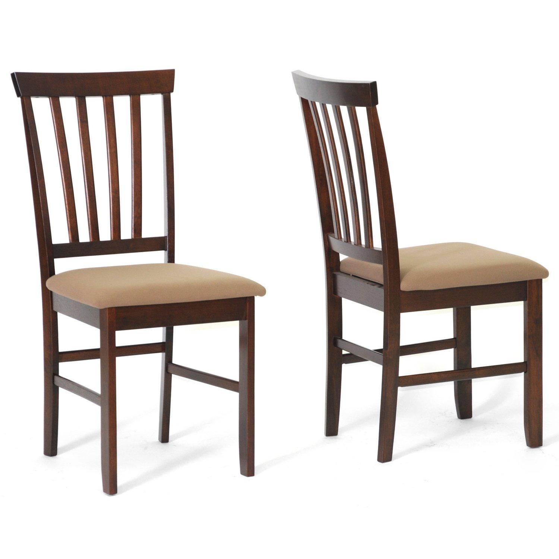 Baxton Studio Tiffany Wood Modern Dining Chair, Brown, Set of 2 by Baxton Studio (Image #1)