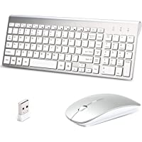 Lucloud Wireless Keyboard and Mouse Combo and Silent Mouse