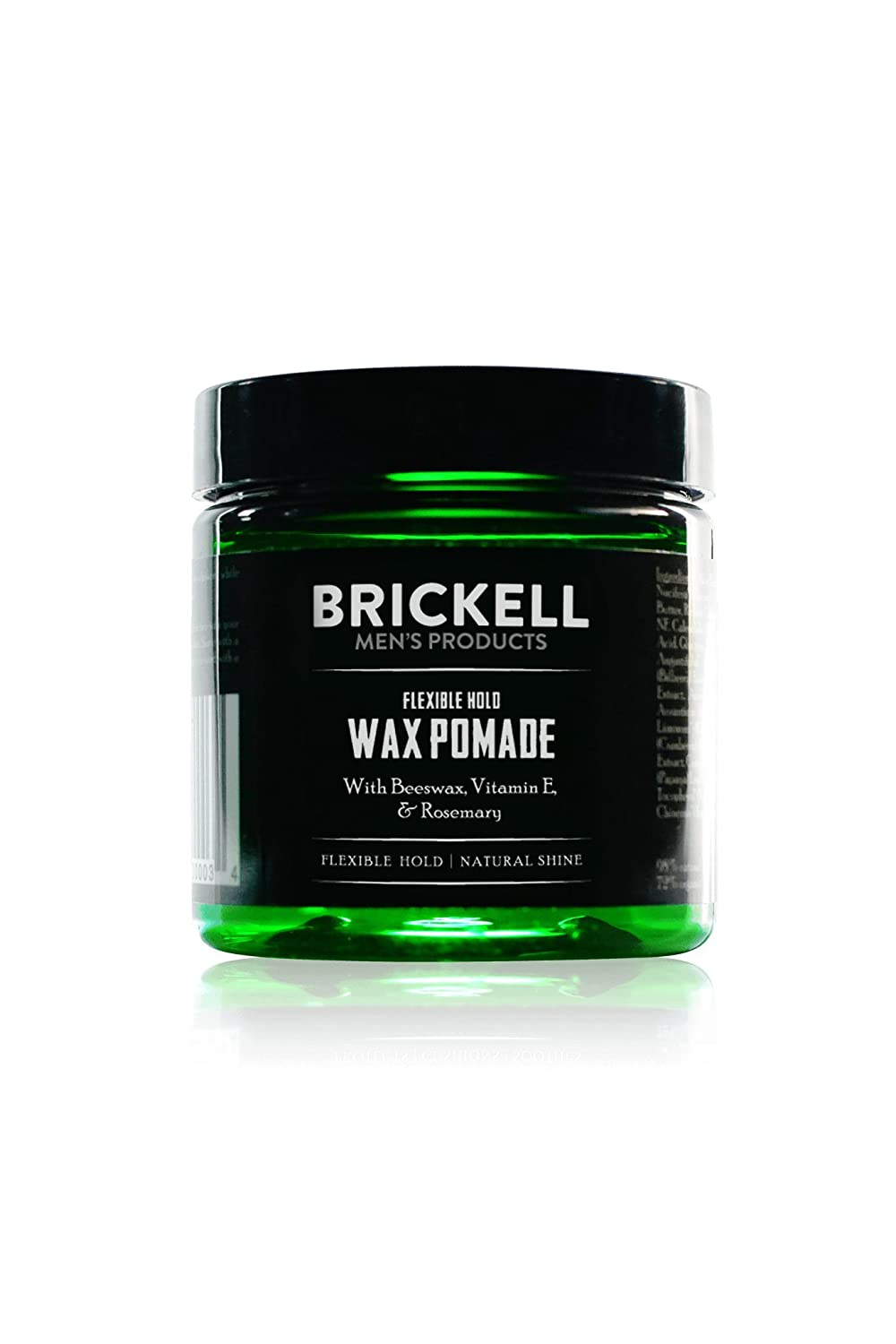 Brickell Men's Flexible Hold Wax Pomade for Men – 2 oz – Natural & Organic Brickell Men's Products FPO134-W