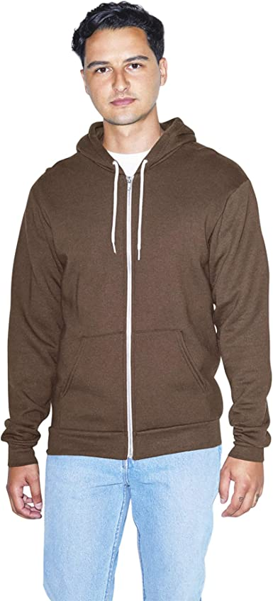 1 Dark Heather Grey//Black American Apparel F497 Fleece Zip Hoodie M 1 Forest