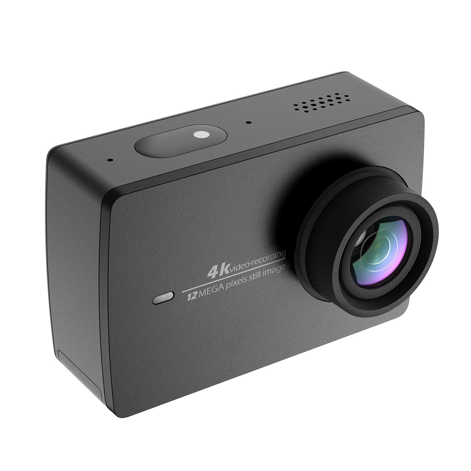 YI 4K Action Camera, 4K/30fps Video 2h Recording Time with 2.2 Inch Touch Retina Screen Sony IMX377 Image Sensor Live Sports Camera 40 Meters Waterproof Camera (Waterproof Case Not Included) by YI