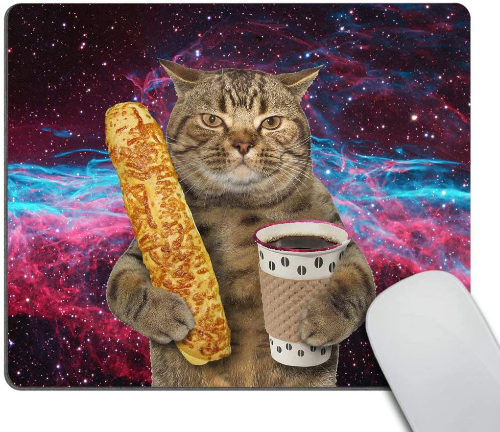 Smooffly Funny Cat Mousepad Non-Slip Rubber Gaming Mouse Pad Rectangle Mouse Pads for Computers Laptop Cat Desk Accessories