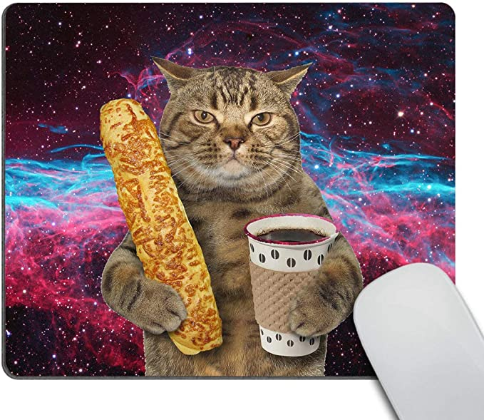 Homenon Large Gaming Mouse Pad Locking Edge Mouse Mat Pizza Seamless Pattern Hand Drawn Sketch Gaming Mouse Anti-Slip Rubber Mousepad for Laptop 35.4 x 15.7 NO-58727
