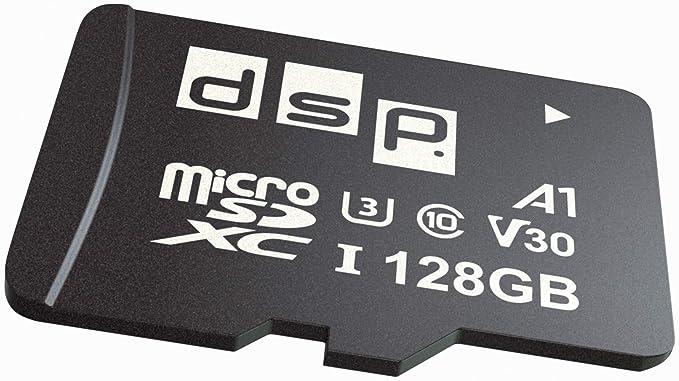 Tarjeta de Memoria microSD SDXC de 128 GB, A1, U3, V30 + Adaptador SD de hasta 100 MB/s.