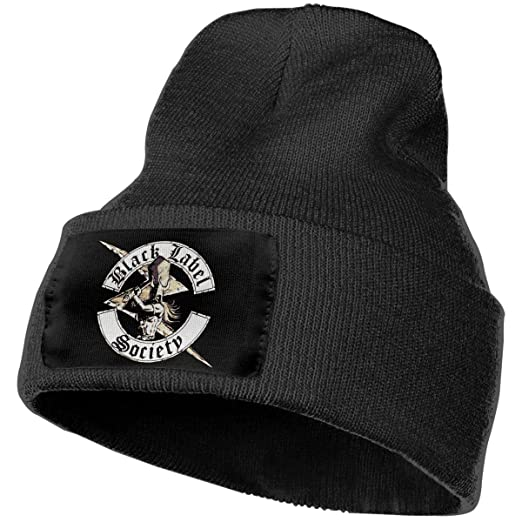 2c7de07cac0d7 Amazon.com  Black Label Society Womens Winter Beanie Hat Scarf Set Warm  Knit Hat Thick Knit Skull Cap  Clothing