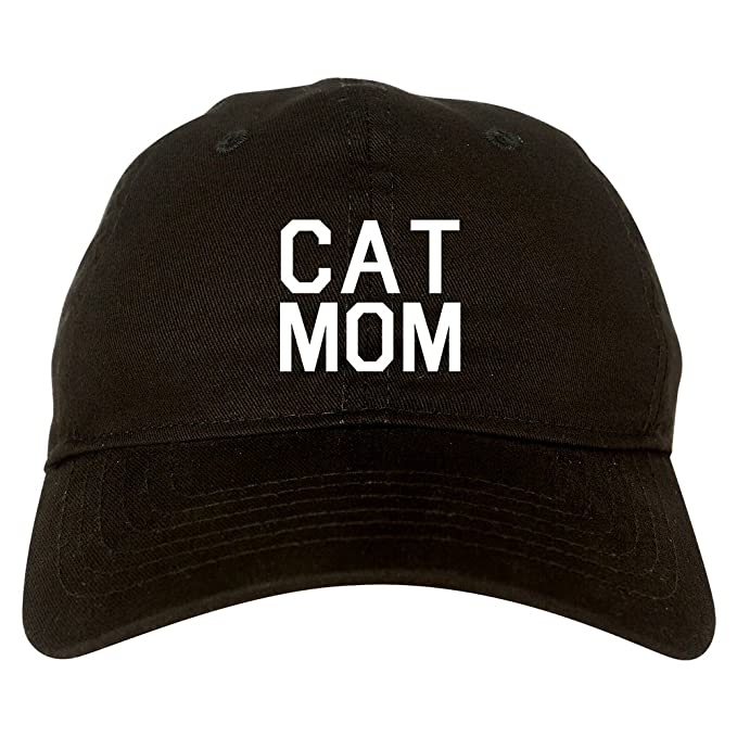58c7de3d57f Amazon.com  Cat Mom Cat Mother Dad Hat Baseball Cap Black  Clothing