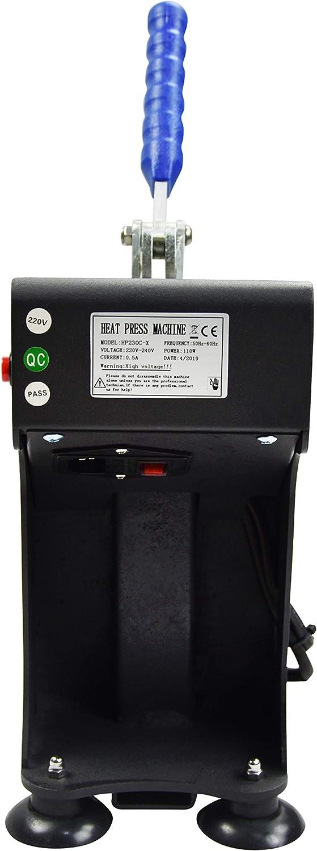Mini Manual Heat Press Machine 770lbs Max Down Force Hot Presser 3x5 Inch Dual Heating Plates LCD Controller 300W Shirt Heat Press Transfer Sublimation Press Machine