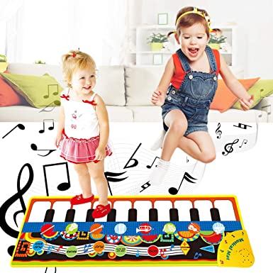 Musical Mats for 1-6 Year Old Boys Music Piano Keyboard Dance Toy for Toddlers Baby Toys 12-18 Months First Birthday for Kids Girls Age 1 2 3 4 5 6 Toys for 1-6 Year Old Boys Girls