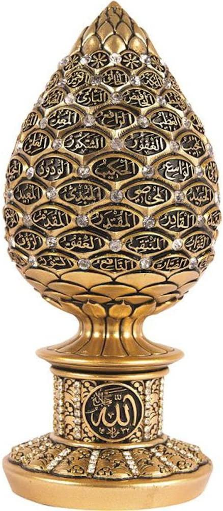 Islámica decoración de la Mesa Golden Huevo Escultura Figura árabe ...