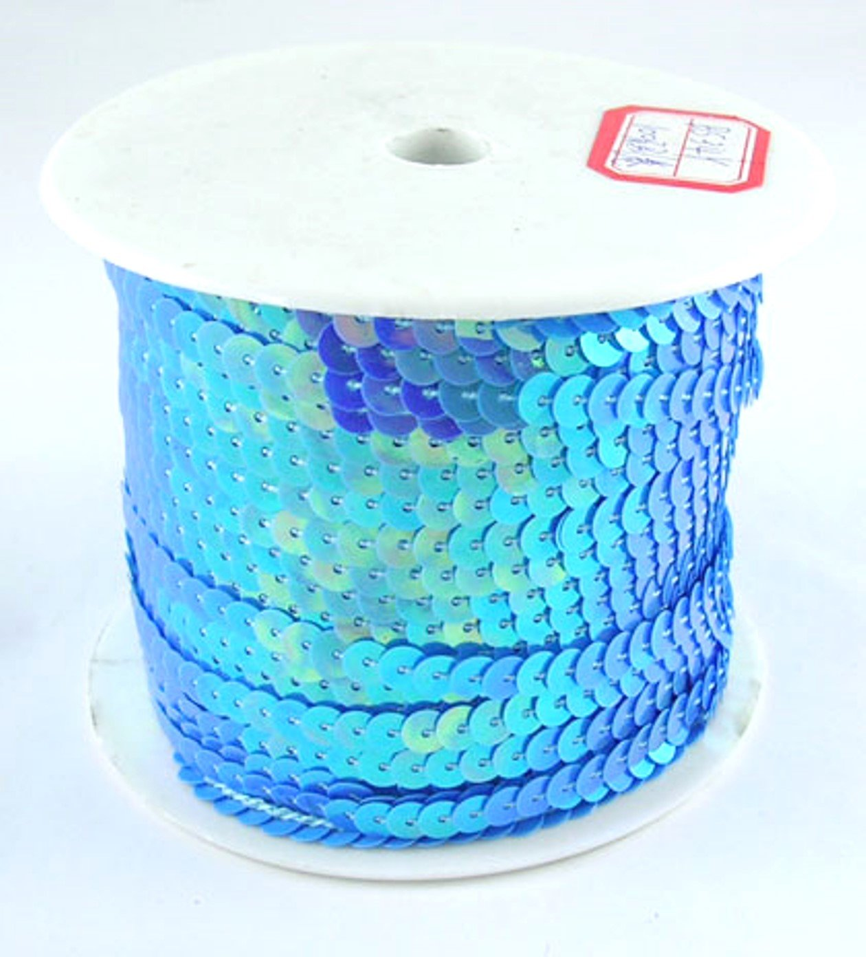Paillettes nastro blu 6mm di larghezza e 91meter fai da te, colore platino Bastel Express 4250983915402