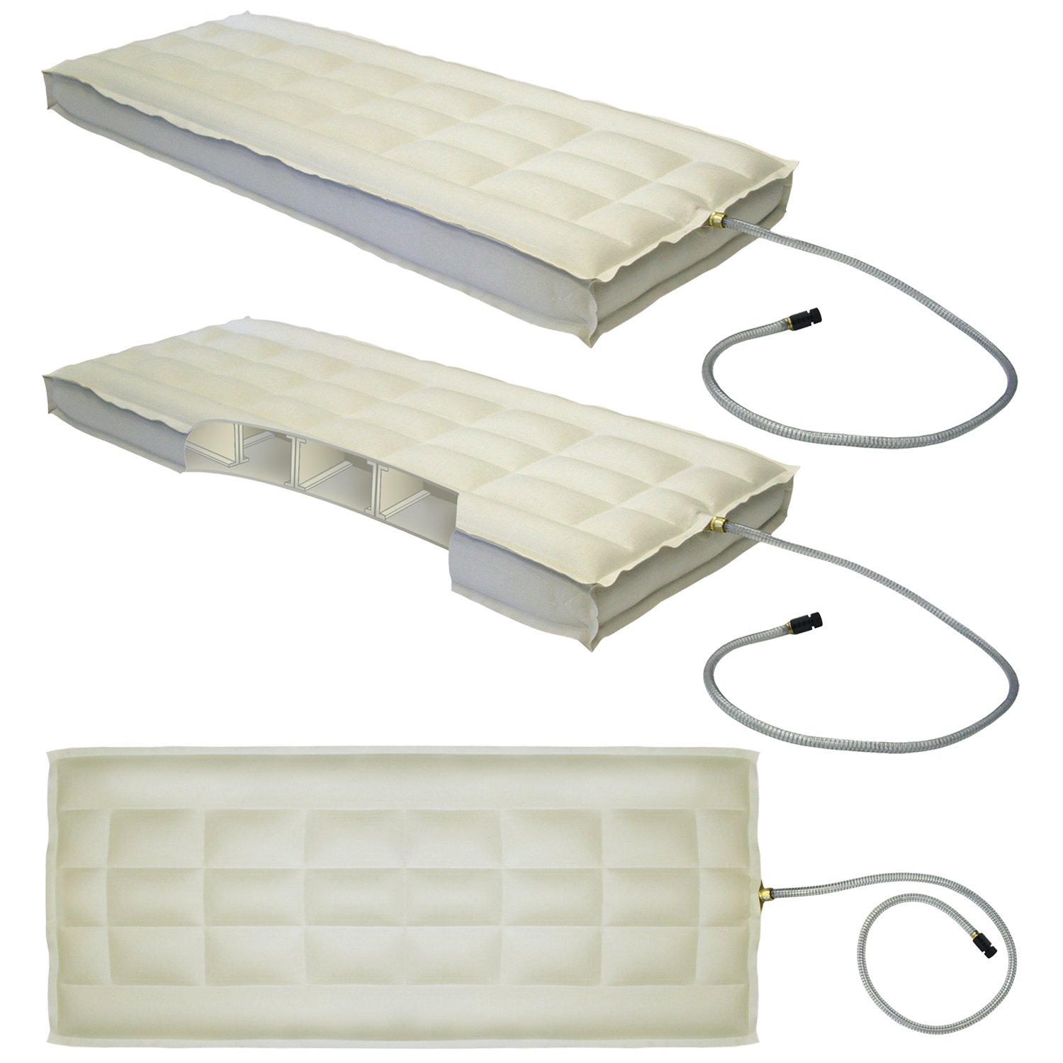 King Innomax Medallion Adjustable Sleep Air Bed Set with Foundation