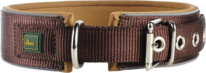 Platz 1 – Hunter Neopren Reflect, Hundehalsband aus Nylon mit Neopren unterlegt