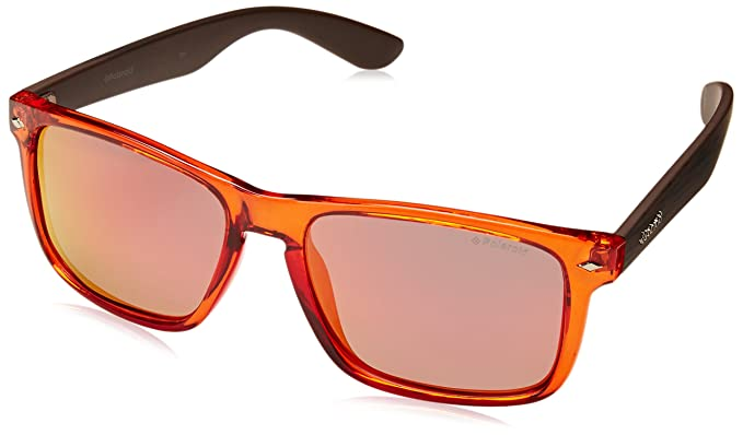 Polaroid Unisex-Erwachsene PLD 6008/S OZ QID Sonnenbrille, Braun (Org Bw Black Striped/Red Grey Speckled Pz), 55
