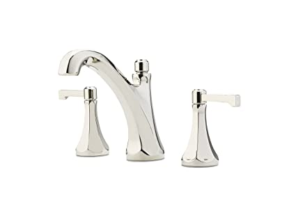 Astounding Pfister Lg49De0D Arterra 2 Handle 8 Widespread Bathroom Faucet In Polished Nickel Interior Design Ideas Gresisoteloinfo