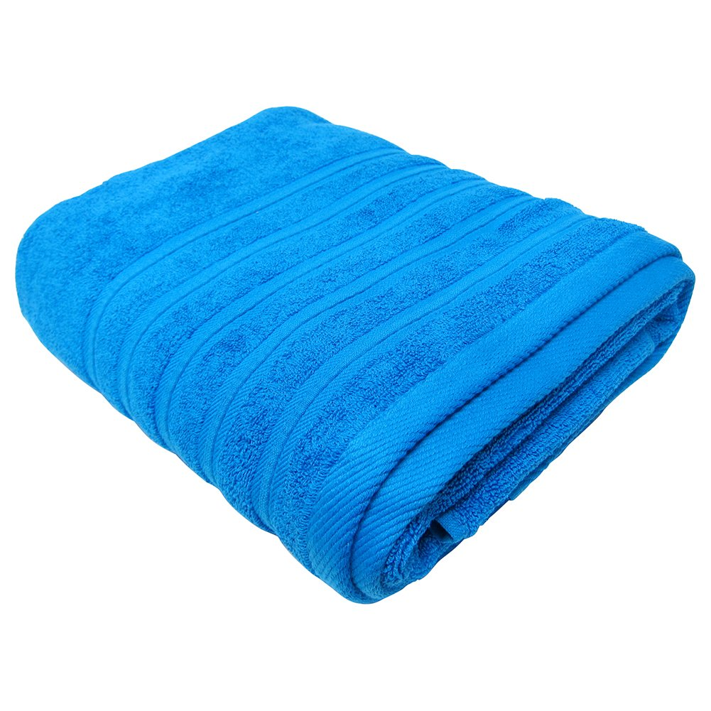 Feather and Stitch 2-Ply Bath Sheet, 100% Cotton For Absorbency and Durability, Spa And Hotel Quality Bath Sheets, Ultra Soft, 32x64 Inches (Cobalt)