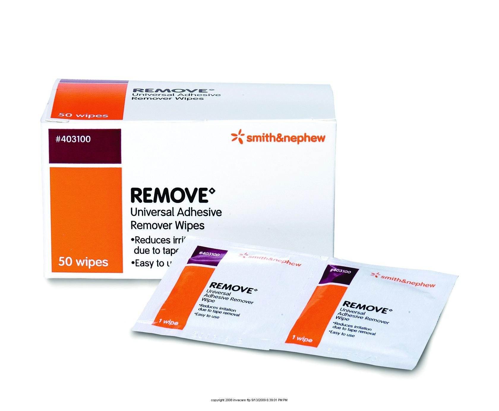 Remove™ Adhesive Remover Wipe - UOM = Case of 1000
