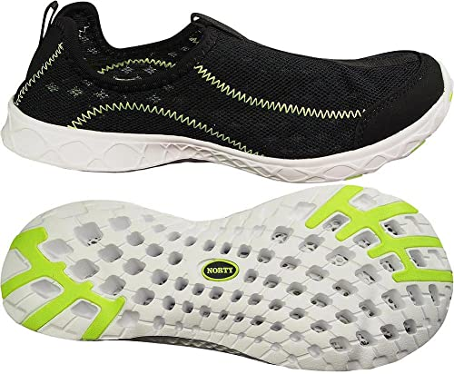 f67c7b33b NORTY - Womens Specific Breathable Mesh Slip-On Drainage Hole Water Shoe  for Healthy Feet