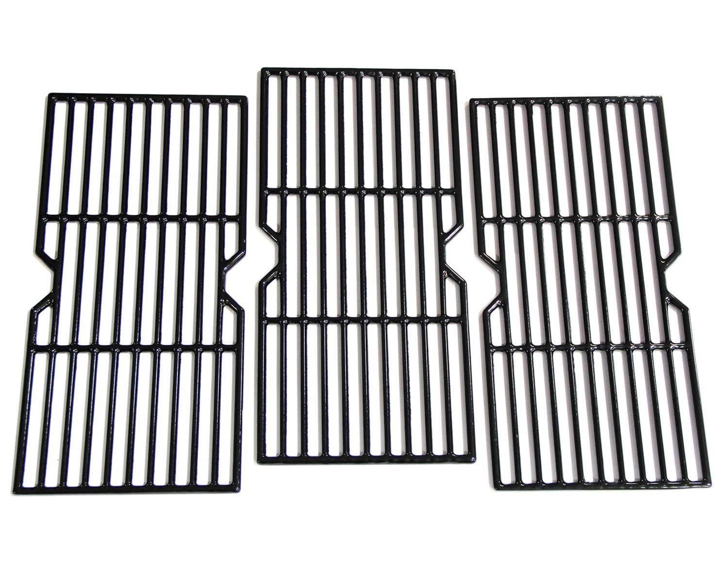 Hongso PCF123 Porcelain Coated Cast Iron Cooking Grid Grates Replacement for Charbroil Advantage 463343015, 463344015, 463344116, Kenmore, Broil King Gas Grill Models, G467-0002-W1, 16 15/16'', 3-Pack by Hongso