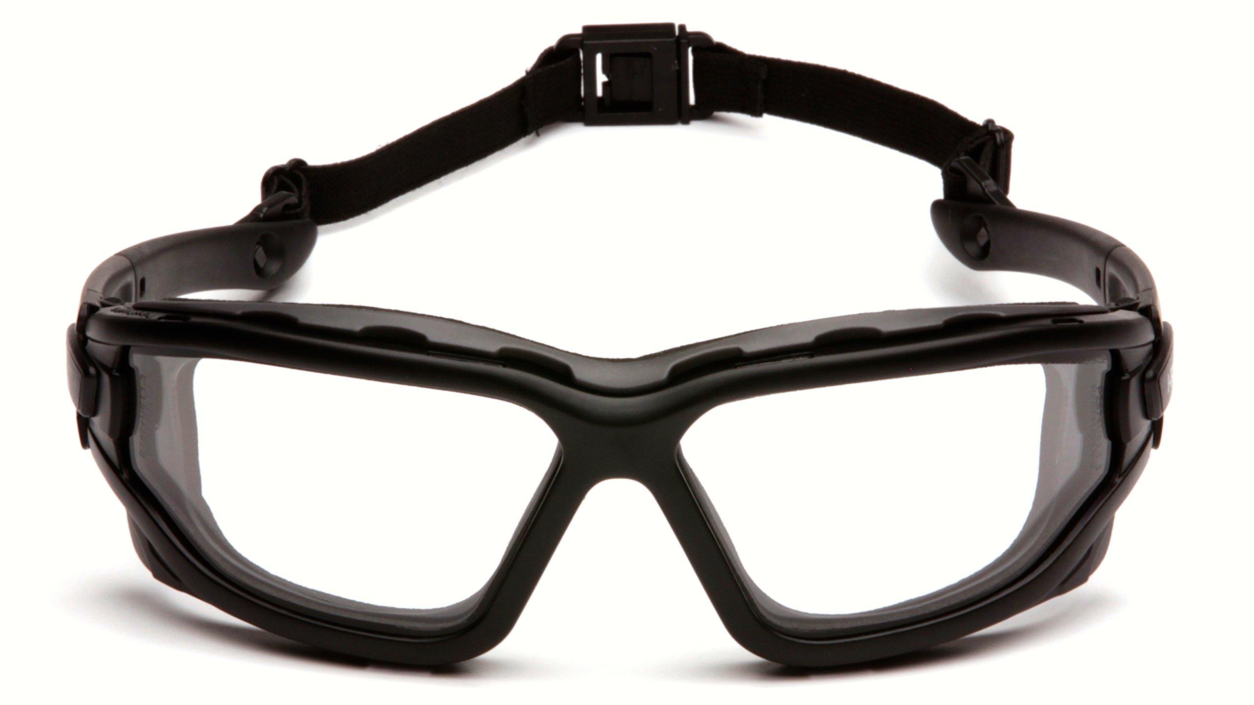 Pyramex I-Force Sporty Dual Pane  Anti-Fog Goggle, Black Frame/Clear Anti-Fog Lens by Pyramex Safety (Image #4)