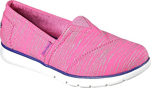 Girls Pure Flex 85623L (Little Kid/Big Kid) Hot Pink/Purple Shoe Skechers Kids