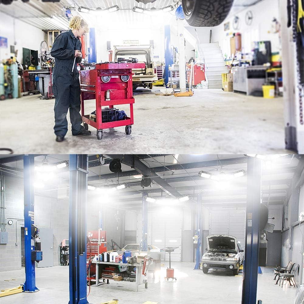 E26//E27 Ceiling LED Shop Light Brightness Garage Light,PINSAI Upgraded 2-Pack LED Garage Light 12000Lumens 120W Folding Deformable LED Adjustable Light
