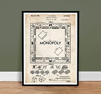 amazon com monopoly poster board game us patent poster print