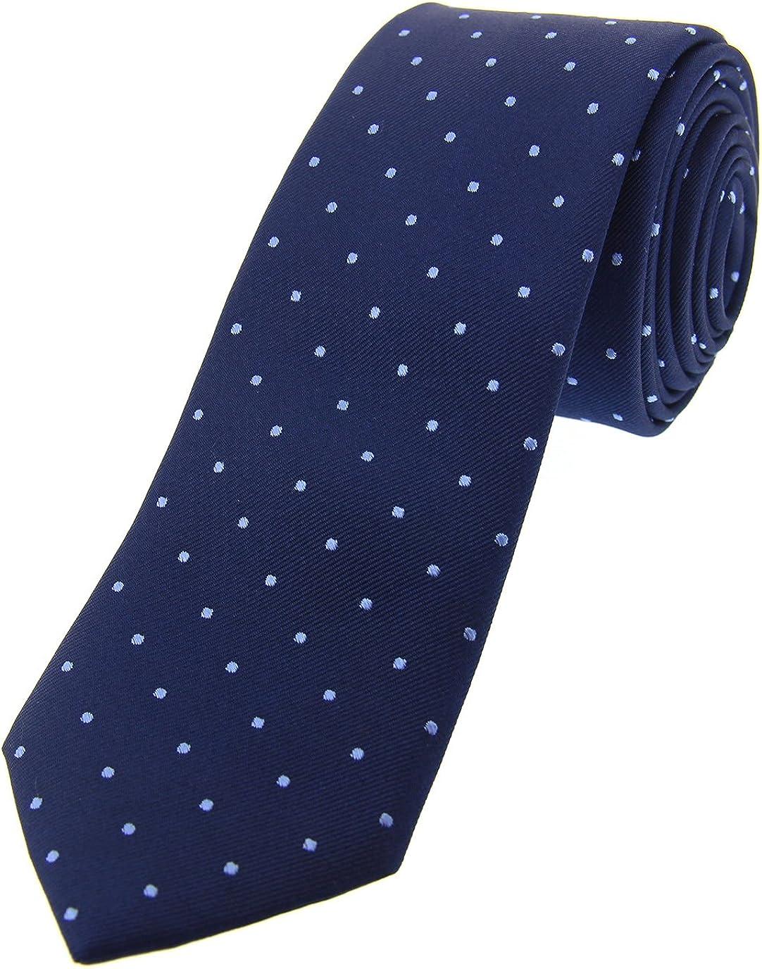 Soprano, corbata de seda para hombre de color azul marino con ...