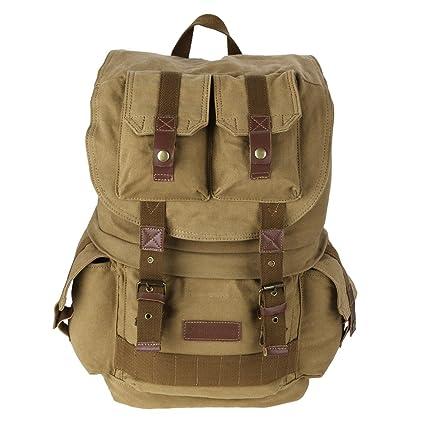 5f9b7572bd34 Koolertron Canvas DSLR SLR Camera Shoulder Bag Backpack Rucksack Bag With  Waterproof Cover For Sony Canon